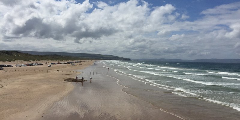 Portstewart Strand for surfing, sandcastle and sandwiches